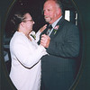 Marj and Allen sharing a dance at reception.