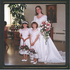 Becky and the flower girls before the wedding.  Nicole and Danielle.