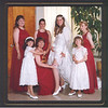 Becky and the bridesmaids and flower girls before the wedding.<br /> (left to right back row) Laura, Brandi, Becky, Alyse<br /> (left to right front row) Nicole, Phyllis and Danielle
