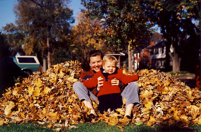 Jack & Amy in Leaf Pile