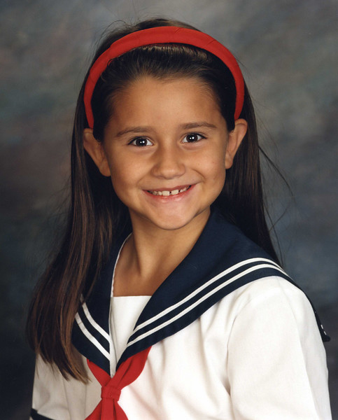 Rachel's second grade picture for ESD, Fall 2002.