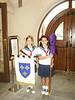 ESD Chapel, Spring 2004.  Rachel with Carolyn Taylor.