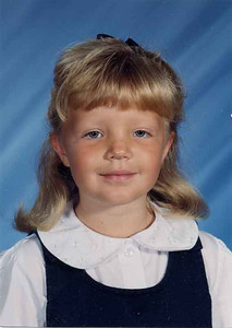 This is Paige's Kindergarten picture. She was five years old.