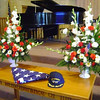 Display at the Troy service