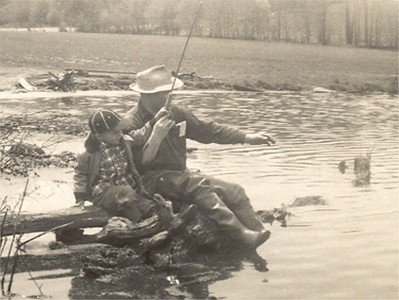 11 Bob and Grandpa Bow fishing about 6_2