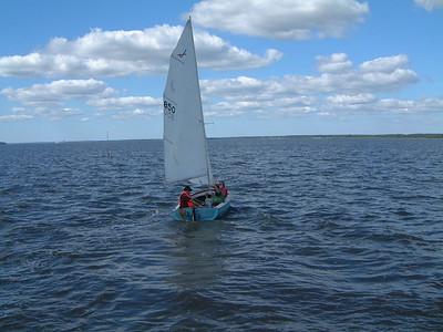 Sailing on the York