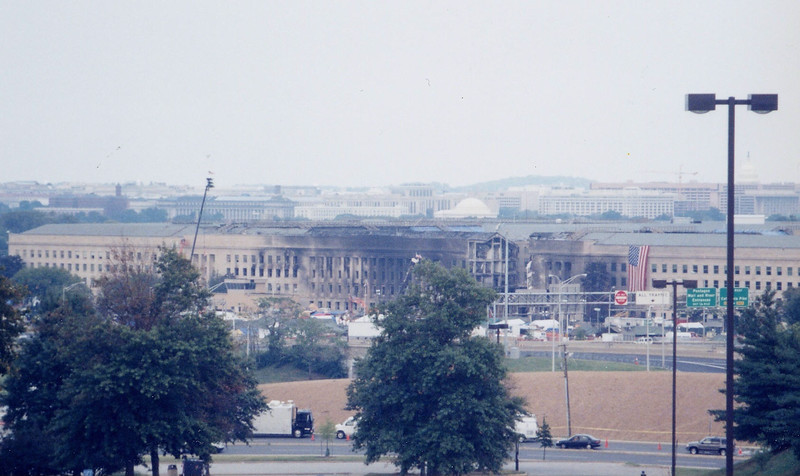 This is the Pentagon a week after Sept 11th