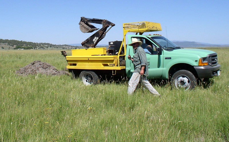 digging out Klamath soil out in the Sprague
