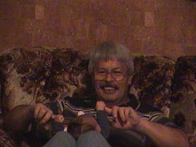 2003-06-13 Playing with Grampa Joe