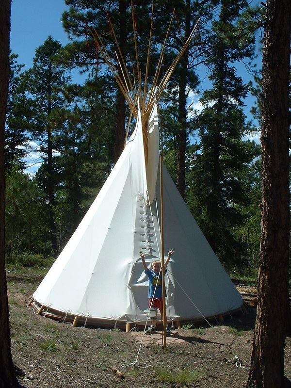 Cool Grandmother has a TeePee.