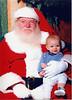 Grant(7 mo) and Santa - Dec 16 2003