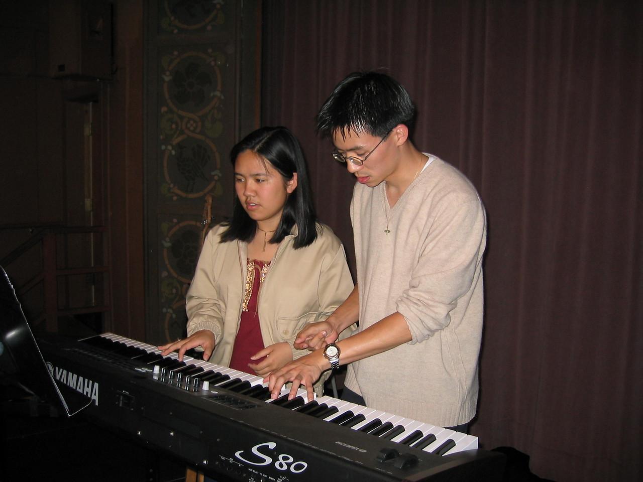 Sibs on the keys @ Berkeley Mosaic, Sunday 6 1 2003