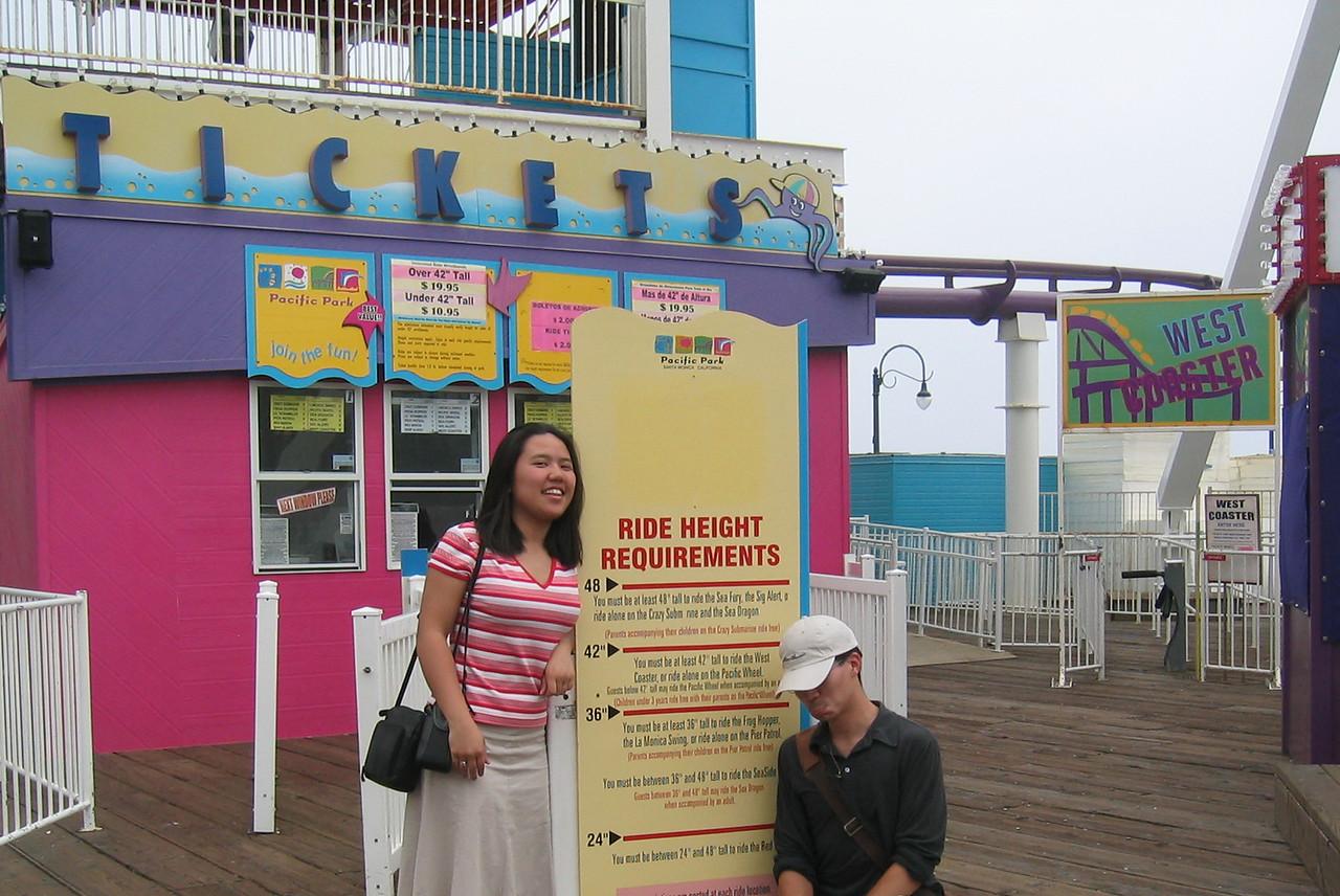 Muoy Muoy surpasses Big B, @ Santa Monica Pier, Monday 6 2 2003