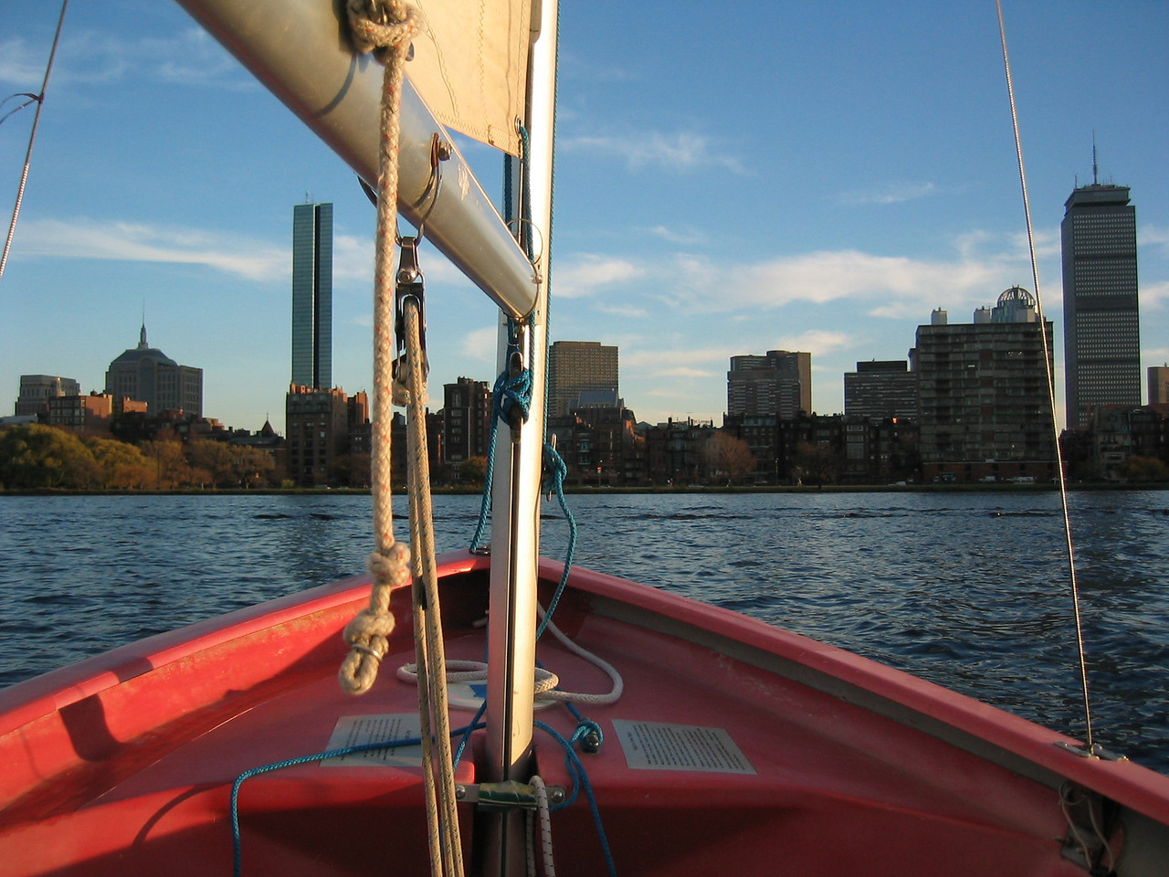 2003 11 07 Friday - Sailing on the Charles River @ MIT - Downtown Boston Financial District