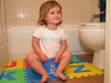 8/16 - First time sitting on the potty