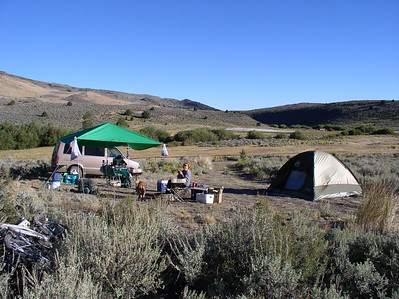 back to camp at Hart Mountain