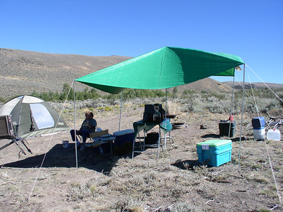 tent campsite at Hart Mountain