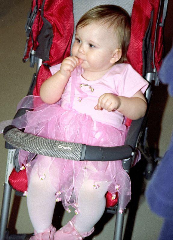 20041029 Claire Halloween Stroller