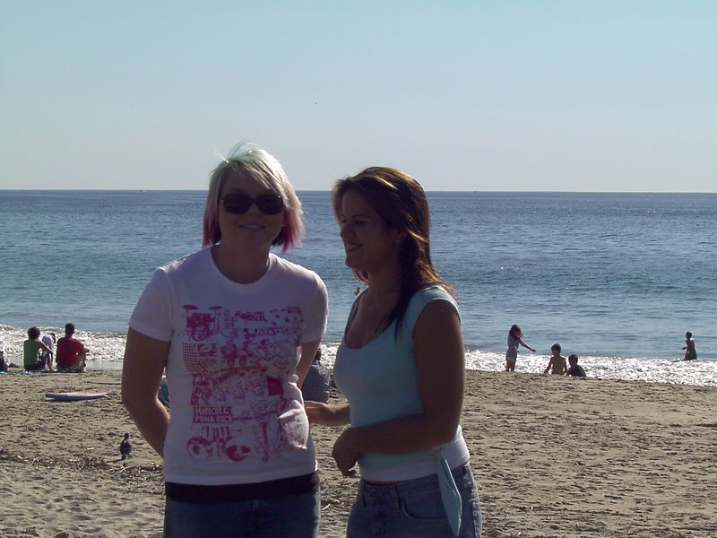 Karen and Kimmy on the beach