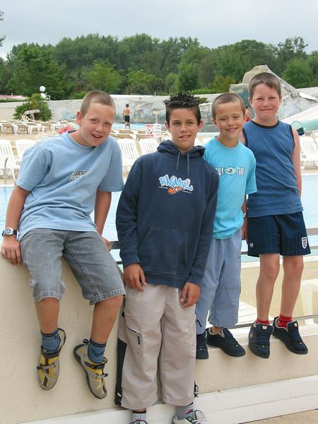Sam, James, Ben, Jack - France  August 2004