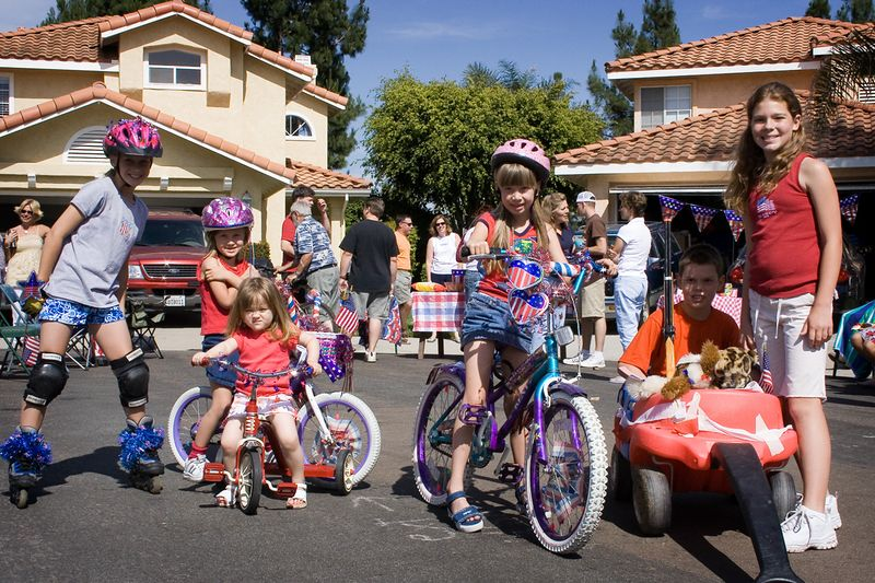 5/30 - Memorial Day parade for children on Julia and Chloe's street.