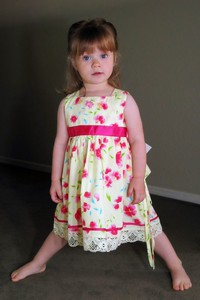 "3/20 - Lili calls this one her ""pretty dress"", She loves to wear it."