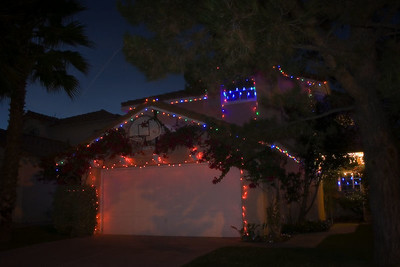 12/18 - Our hous with Christmas lights