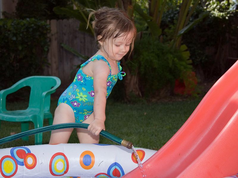 7/16 - Half of the fun is to play with the garden hose