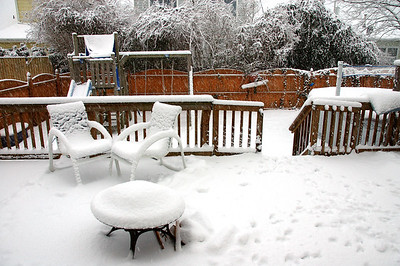 Mid Afternoon Saturday. Three inches or so........