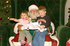 (12-04-2005)  Connor and Claire visiting Santa.