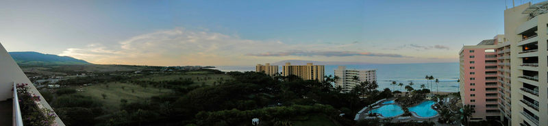 maui sunrise panorama
