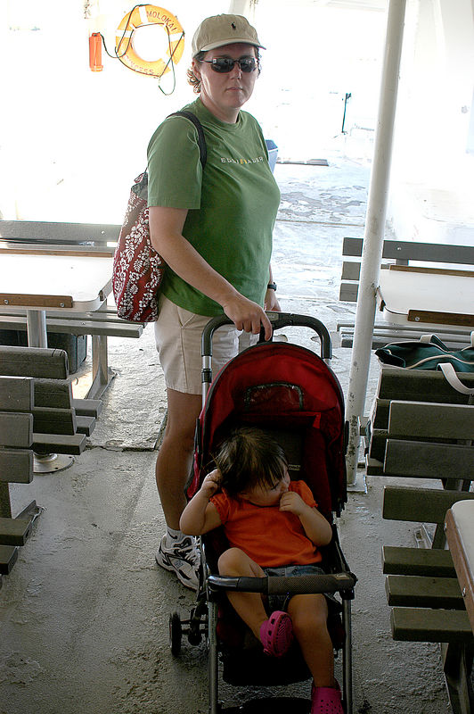 (11-09-2005)  Getting ready to embark on the wild ferry ride from Molokai to Maui.