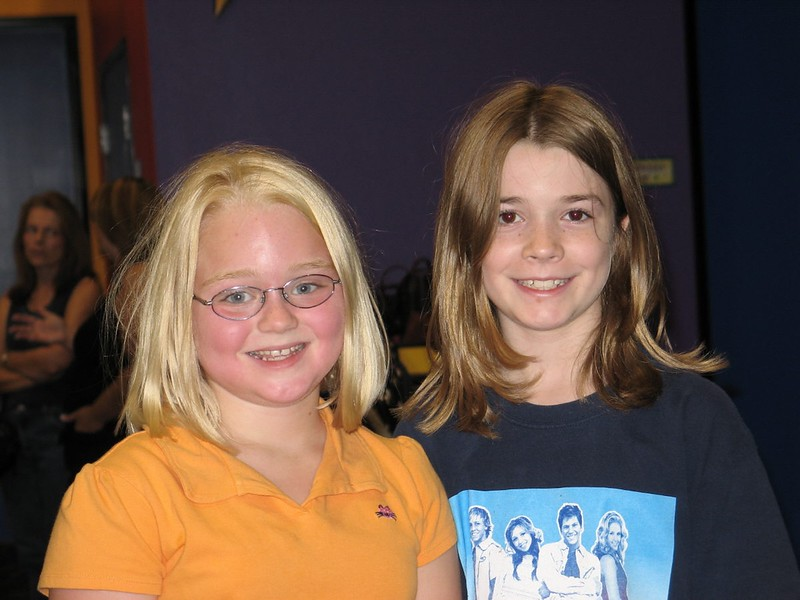 McKenzie and her friend Carissa.