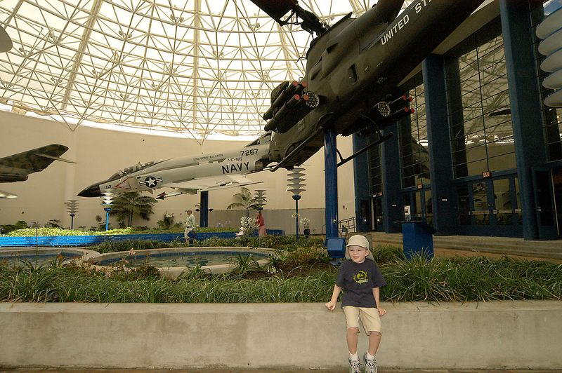 May 29, 2005 -- Connor at the San Diego Aerospace museum.