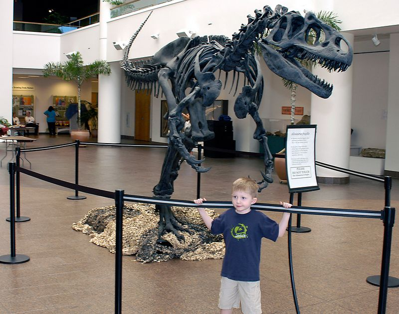 5/29/05 -- Connor and friend at the San Diego Natural History museum.