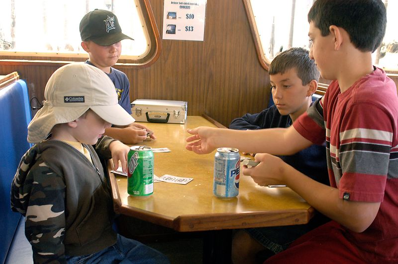 May 28, 2005 -- The fellas playing Go Fish -- the only card game to play on a fishing trip.