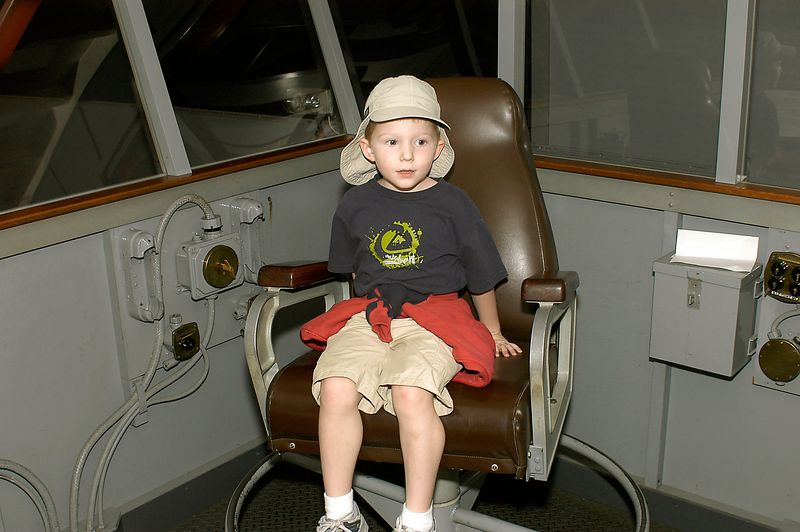 May 29, 2005 -- Connor sitting in the Air Boss' Chair at the San Diego Aerospace museum.