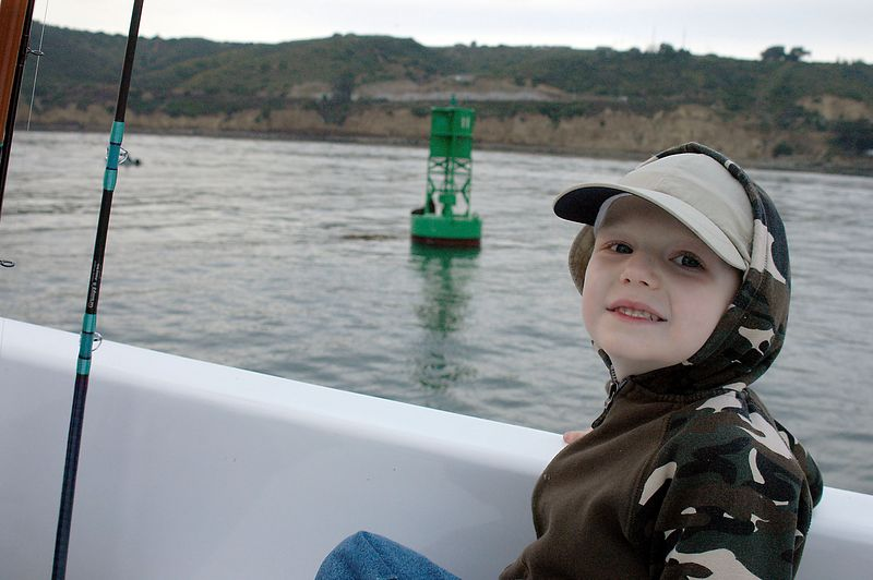 May 28, 2005, Connor aboard the Daily Double heading out to sea.