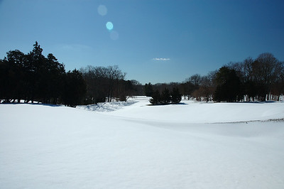 Looking South towards he 8th green fiom the 3rd hole