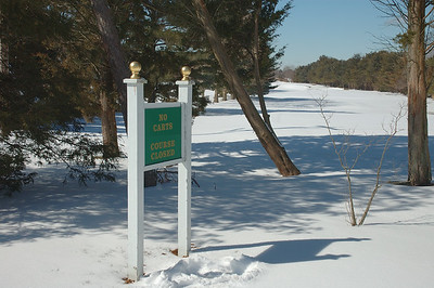 No Golf Today ...Course Closed ...really ?