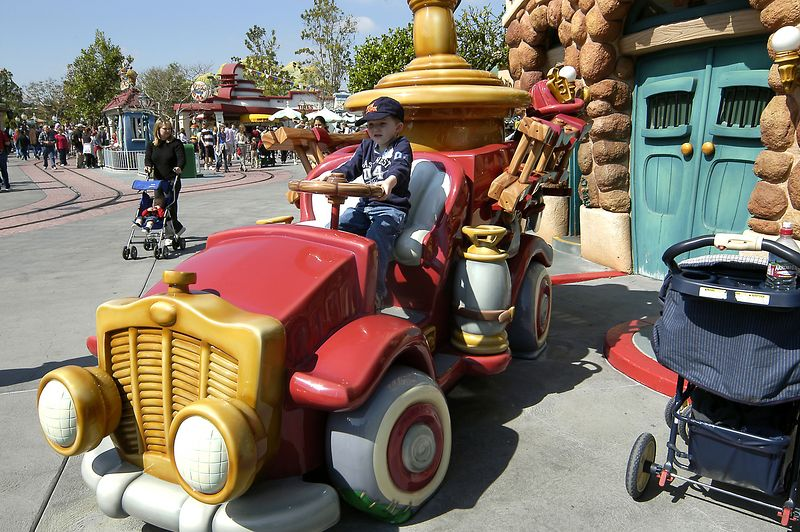 Connor on the Toon Town Firetruck