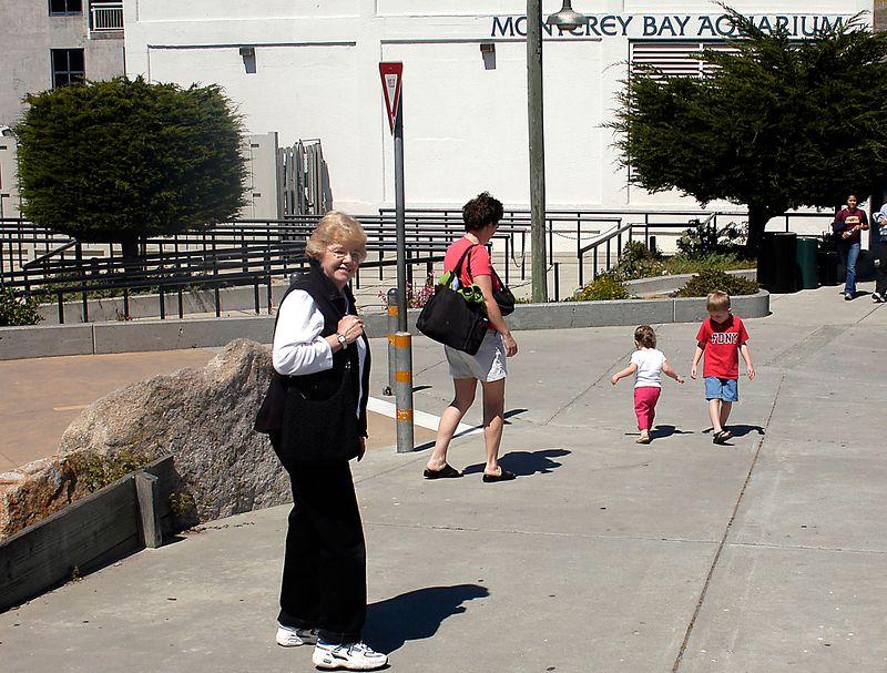 6-27-2005 -- Invading the Monterey Bay Aquarium.
