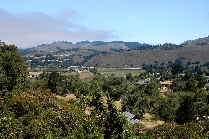 7-1-2005 -- The view of the Carmel Valley from our campground.