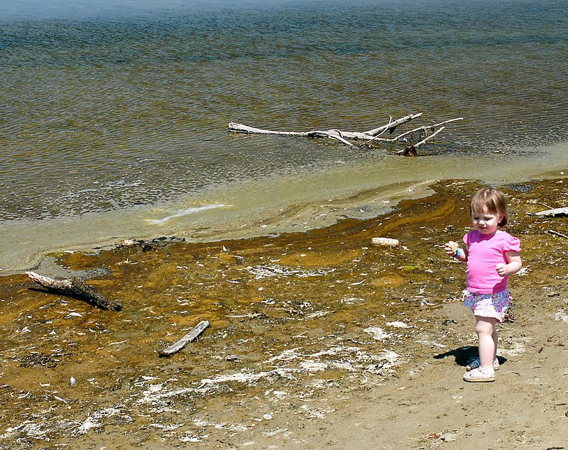 6-26-2005 -- Claire enjoying the lovely backwater on Morro Beach.