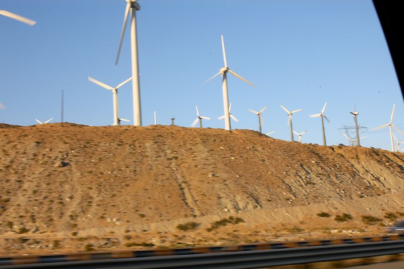 7-2-2005 -- On the trip home, wind generators near Palm Springs.