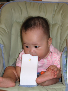 oct 02, 05 teething on high chair