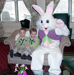 Alex & Brady with Easter Bunny