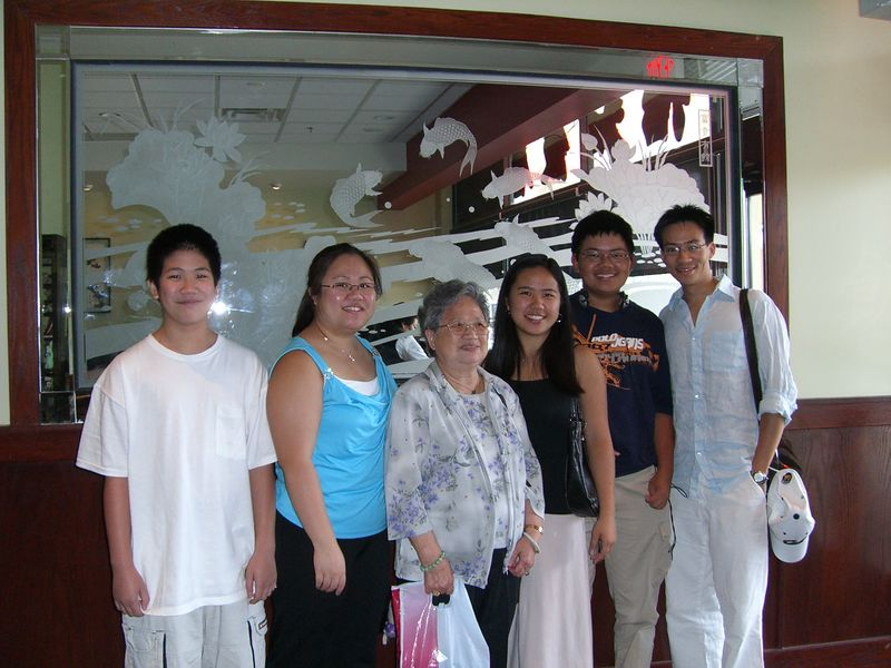 2005 08 20 Saturday - Cousins & Ma Ma @ dim sum 1