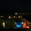 Night-time view from our room at the Los Sueños Marriott Resort in Playa Herradura, Costa Rica.