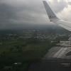 Flying into Costa Rica.
